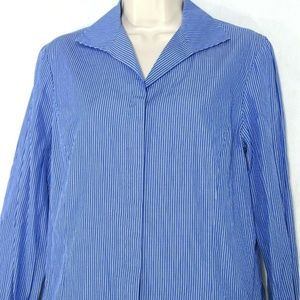 Lafayette 148 Button Front Blouse Shirt Top Size 6